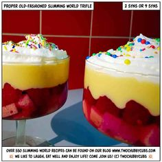 Looking for a proper gorgeous dessert? We'll sort you out: this amazing proper old-fashioned trifle will hit the spot! Slimming World Trifle, Slimming World Deserts, Slimming World Recipes, Slimming Workd, Vegetarian Cabbage, Frozen Yoghurt, Something Sweet, Nom Nom, Sweet Tooth