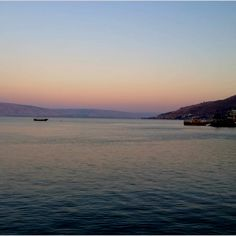 Sunset over the Sea if Galilee