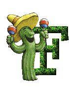 Alfabeto de cactus parranderos.