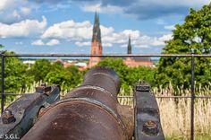 Cañones del slot de Uppsala.  Visitando Suecia: un dia en Uppsala