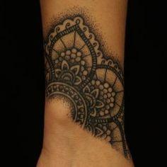 cuff lace tattoo