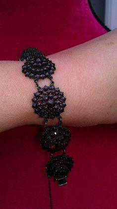 Victorian  Bohemian Garnet Bracelet.