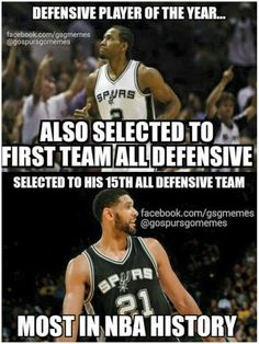 My boys aren't even playing and they're still racking up accolades! #Spursfanforlife #GOSPURSGO #GOAT #TheKlaw