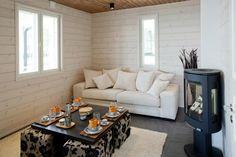 Omatalo Rantakukka - Saunatupa | Asuntomessut My Dream Home, Venus, Cottage, Decorations, Couch, Bathroom, Summer, Furniture, Home Decor