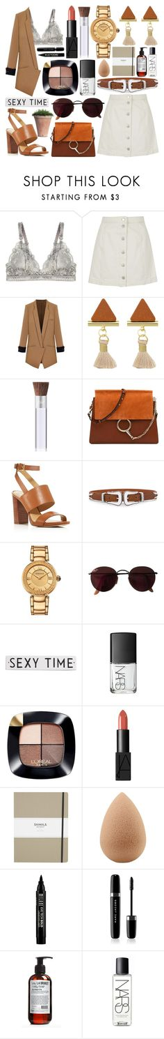 """""""#238 You have to be crazy to fall in love."""" by mariana15c ❤ liked on Polyvore featuring STELLA McCARTNEY, Topshop, PurMinerals, Chloé, MICHAEL Michael Kors, B-Low the Belt, Versace, Ray-Ban, Rosanna and NARS Cosmetics"""
