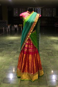 Pink saree converted into a vibrant lehenga - from Studio 149 by Swathi