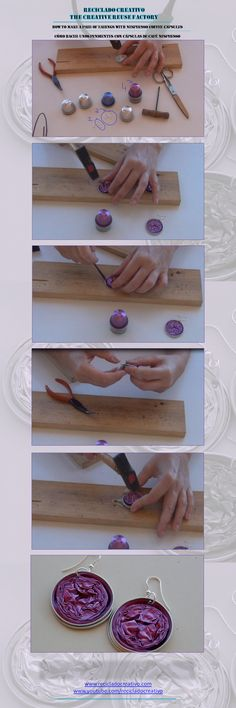 How to make a necklace with Nespresso coffee capsules - Cómo hacer un collar con cápsulas de café Nespresso