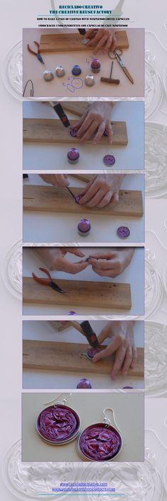 How to make a necklace with Nespresso coffee capsules - Cómo hacer un collar con cápsulas de café Nespresso