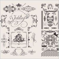 wedding lace pattern vector
