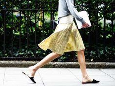 Como combinar sua saia plissada