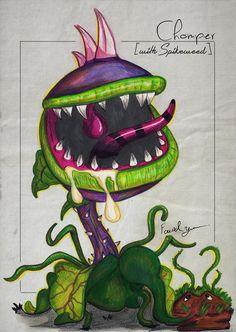 Fire Chomper from Plants vs Zombies: Garden Warfare! Plant Zombie, Zombie 2, Plants Vs Zombies Drawing, P Vs Z, Persian Tattoo, Mario Toys, Werewolf Art, Plant Tattoo, Little Shop Of Horrors