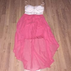 pink and creme high low dress worn twice, still in great condition delias Dresses High Low