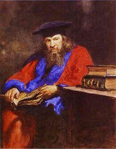 Repin, Ilya (1844-1930) - 1885 Portrait of Dmitry Mendeleev | by RasMarley