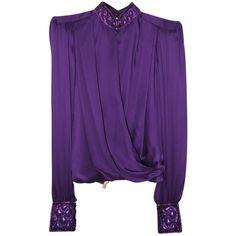 Pre-owned Balmain Balmain Purple Blouse (40.560 RUB) ❤ liked on Polyvore featuring tops, blouses, purple, balmain, purple blouse, balmain top and purple top