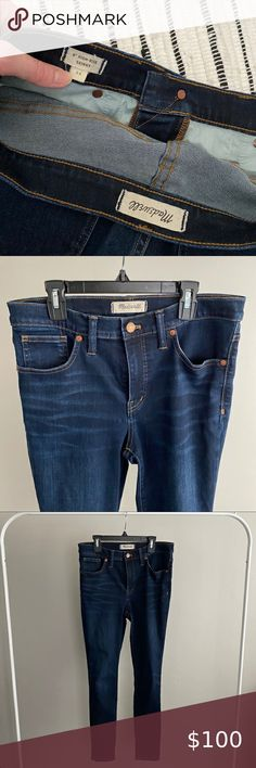 """9"""" High Rise Madewell Skinny Jeans Size 29 Madewell Jeans High Rise High Jeans, Madewell, Jeans Size, Skinny Jeans, Fashion Tips, Fashion Design, Closet, Skinny Fit Jeans, Closets"""