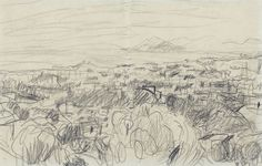 Artwork by Pierre Bonnard, Paysage, Made of Pencil drawing