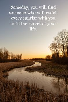 Sunrise in Dunnville, Ontario Canada.  Inspirational quote for singles.