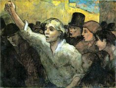 The Insurrection (1858) - Honore Daumier (French: 1808-1879)