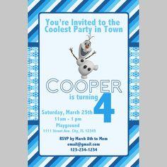 Olaf Frozen Birthday Party Digital Invitation Template