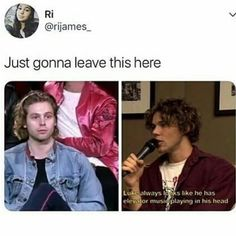 I think Luke is broken ~TheEmoNeko 5sos Funny, 5sos Memes, Funny Memes, Hilarious, Elevator Music, 5secondsofsummer, 1d And 5sos, Luke Hemmings, Calum Hood