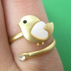#smileswithlove on Artfire                          #ring                     #Adjustable #Bird #Animal #Wrap #Ring #Gold #with #Heart #Shaped #Wings       Adjustable Bird Animal Wrap Ring in Gold with Heart Shaped Wings                                        http://www.seapai.com/product.aspx?PID=760855