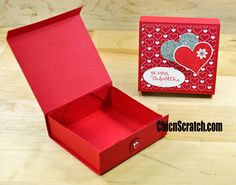 Sweetheart Box with Chic n Scratch Stampin' Up! Demonstrator Angie Juda