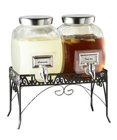 Take a look at this Williamsburg Glass Beverage Dispenser & Stand by Jay Import on #zulily today!
