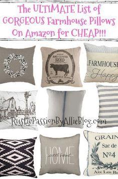 140 Best Diy Farmhouse Style Pillows Ideas In 2021 Farmhouse Pillows Pillows Grain Sack Pillows