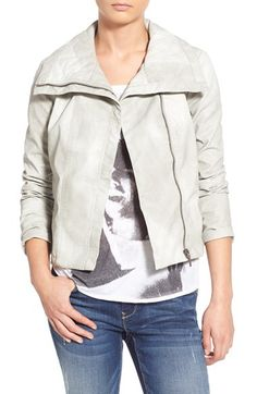 Collection B Collection B Faux Leather Quilted Collar Jacket available at #Nordstrom