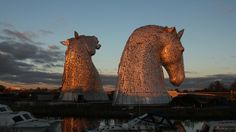 Kelpies sculpures in Falkirk Scotland