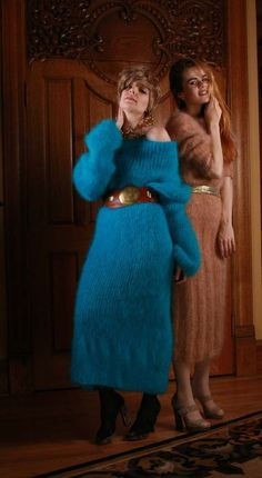 Tumblr Fluffy Sweater, Angora Sweater, Gros Pull Mohair, Sweater Outfits, Sweater Dresses, Wool Sweaters, Knit Dress, Mantel, Knitwear
