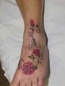 Rosas en el pie