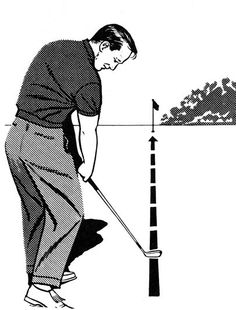 "Many shots stray because the golfer has rolled the wrists to the left--closing the clubface--during impact, or moved the club ""across the ball"" through the hitting area. To eliminate these causes of misdirected shots, continue the clubhead along the target line for an instant longer than normal after impact. Extending the impact zone will automatically give you a full extension of your right arm on the follow-through and a nice, high finish position. WHAT I THINK TODAY I like this idea, but…"