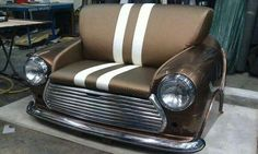 An Austin-Morris seat.  Notice the car is just off the floor