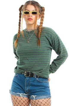 d68af6787f Vintage 90's Slackerz Striped Layer-Look Thermal - One Size Fits Many – Tunnel  Vision