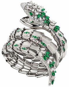 Bulgari Jewelry, Royal Jewelry, High Jewelry, Gold Jewelry, Lotus Jewelry, Jewellery, Bvlgari Serpenti, Diamond Bracelets, Bracelet Watch