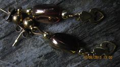 handmade RED GLASS earings XOforgiftOX
