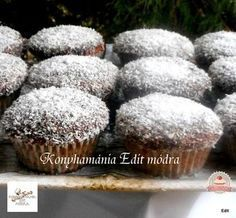 Kókuszkocka muffin Diabetic Recipes, Diet Recipes, Healthy Recipes, Filipino Desserts, Sacher, Hungarian Recipes, Kaja, Cookie Recipes, Cupcakes