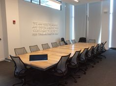 Timberguy was commissioned to build the Executive Boardroom Table for Converse new HQ in Boston. Boston, Converse, Restaurant, Wood, Interior, Table, Furniture, Home Decor, Decoration Home