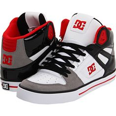 DC red/black/blue sneakers :D
