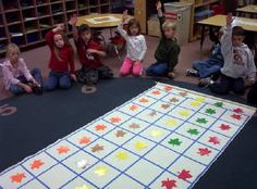 Here's a site with a wealth of idea for graphing with kids. Includes ideas for floor graphs, object graphs, and more.