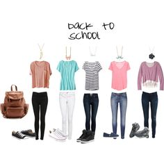 Can't wear jeans every day, but these tips would work well with nice pants! Cute Back to School Outfits | cute back to school outfits - Polyvore