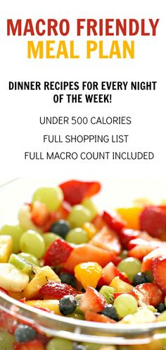 Get healthy menu plans with macro info sent to  your inbox each week! SixSistersMenuPlan.com