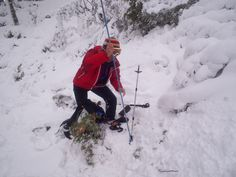 Transceiver training in Glenmore forest this winter.