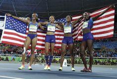 2016-08-20 Women's 4x100m Relay team wins gold