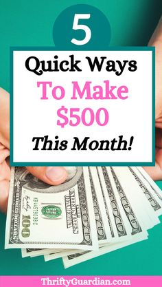 Five ideas on how you can make quick money this month with no upfront investments. How to make money fast - work from home or earn cash as a freelancer. How to get out of debt and make extra money quick this month. Earn Money Online, Make Money Blogging, Money Tips, Saving Money, Make Quick Money, Make Money From Home, How To Make, Extra Money, Extra Cash