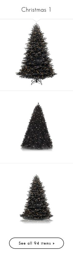 """""""Christmas 1"""" by alyssa23 ❤ liked on Polyvore featuring home, home decor, holiday decorations, christmas, holidays, decor, christmas trees, filler, black home decor and holiday decor"""
