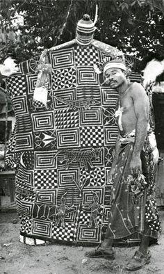 """ukpuru: """" Ekpe in Arochukwu, eastern Igboland, with ukara designed with nsibidi. Unknown photographers, 1990s. """""""