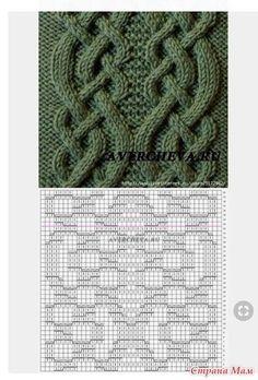 Всем добрый день. Хочу показать свою работу. Тёплая туника типа оверсайз. Очень удобная получилась. Пряжа акрил, ушло около 850 г. Спицы 3.5 мм. С разрезами И небольшим воротником. Cable Knitting Patterns, Knitting Stiches, Knitting Charts, Lace Knitting, Knitting Designs, Knit Patterns, Crochet Stitches, Stitch Patterns, Crochet Cross