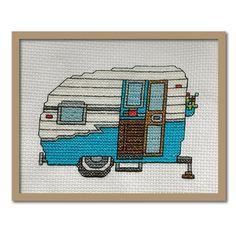 Camper/RV Cross stitch pattern by Tiny Modernist.  #camper #cross_stitch #RV…